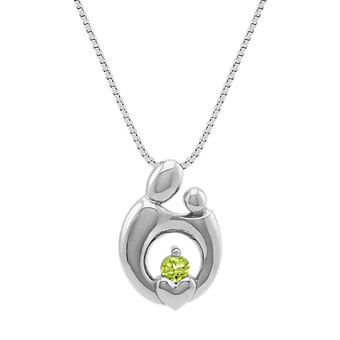 Shop mother and child necklaces and unique fine jewelry collections personalized mother child pendant in 14k white gold 18 aloadofball Choice Image
