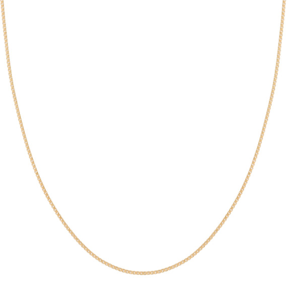 Box Chain in 14k Yellow Gold (16 in)