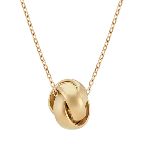 Knot Pendant in 14k Yellow Gold (18 in)