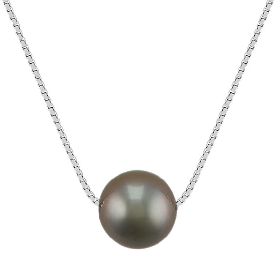 10mm Cultured Tahitian Pearl Necklace (18 in)