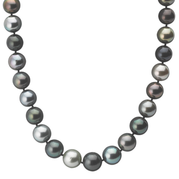 11-13.5mm Multi-Colored Cultured Tahitian Pearl Strand (18 in)