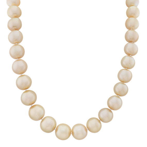 11mm Cultured Golden South Sea Pearl Strand (18 in.)