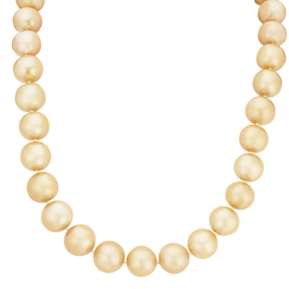 12-14mm Cultured Golden South Sea Pearls (18 in)