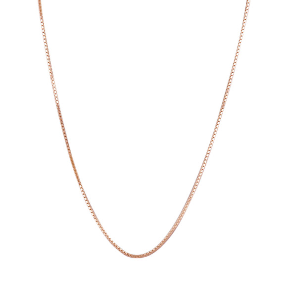 14k Rose Gold Adjustable Box Chain (22 in)