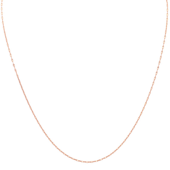 14k Rose Gold Anchor Chain (18 in.)