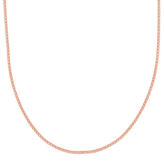 14k Rose Gold Box Chain (18 in)