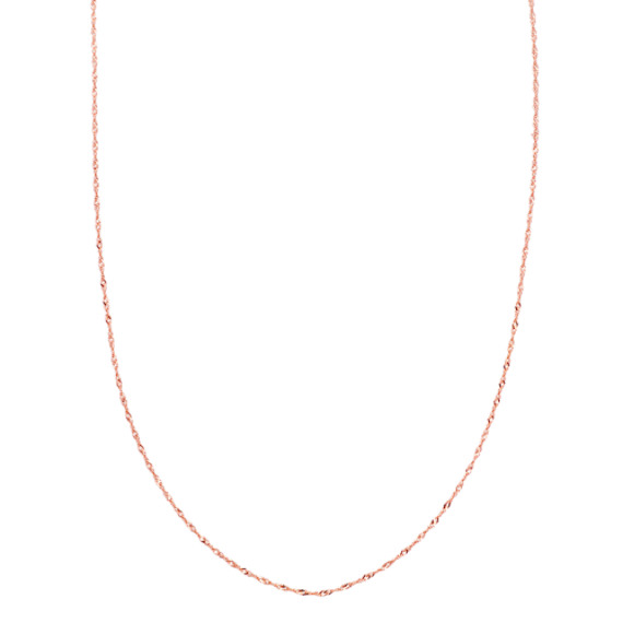 14k Rose Gold Singapore Chain (20 in.) image