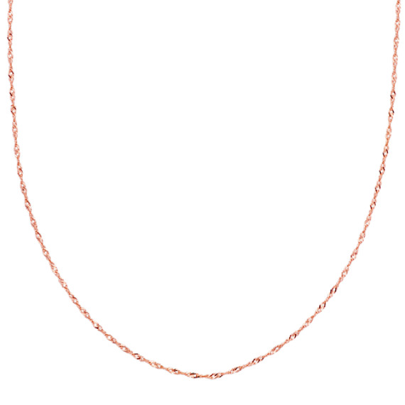 14k Rose Gold Singapore Chain (20 in.)