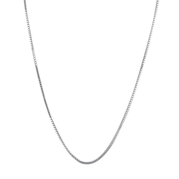 14k White Gold Box Chain (16 in)