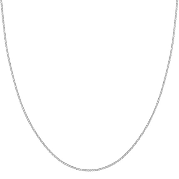 14k White Gold Box Chain (18 in) image