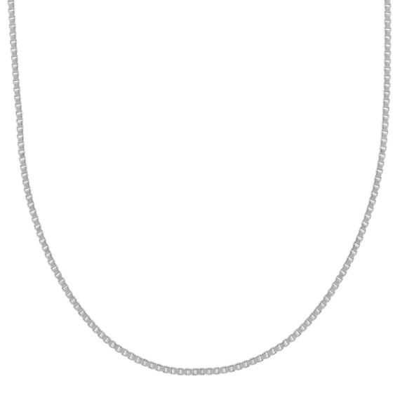14k White Gold Box Chain (18 in)