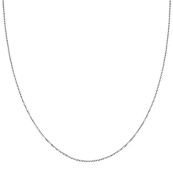 14k White Gold Diamond Cut Chain (18 in)