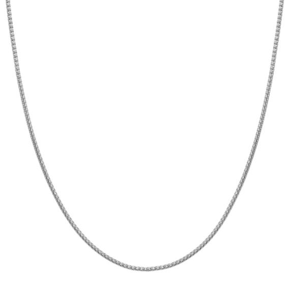14k White Gold Diamond Cut Chain (22 in.)