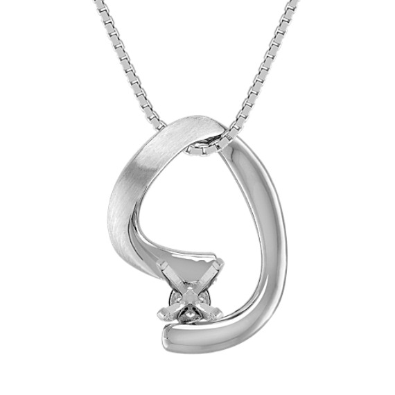 14k White Gold Pendant (18 in)