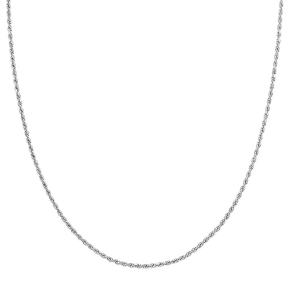 14k White Gold Rope Chain (18 in)