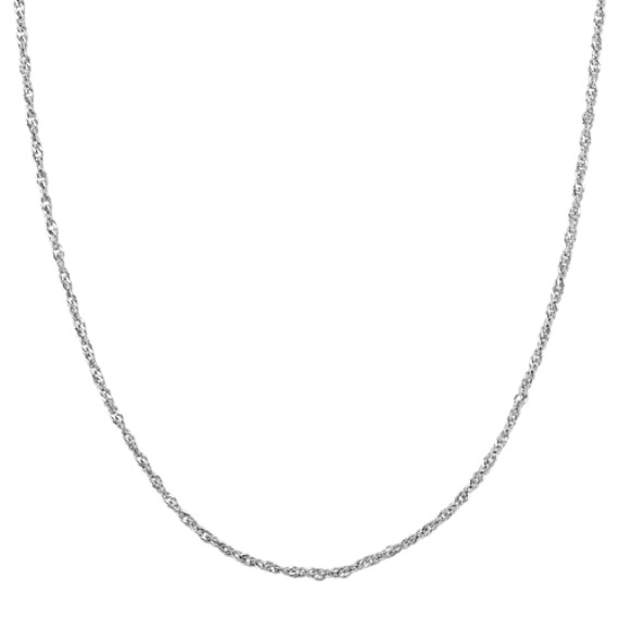 14k White Gold Singapore Chain (18 in)