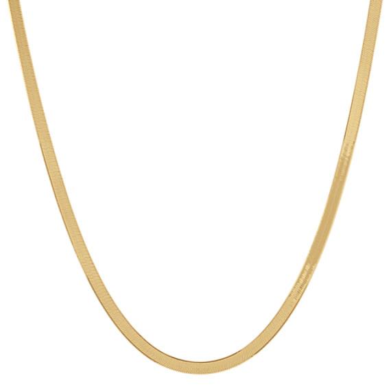 14k Yellow Gold Herringbone Chain (18 in)