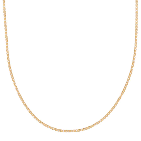 14k Yellow Gold Adjustable Box Chain (22 in)