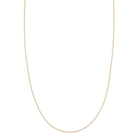 14k Yellow Gold Adjustable Diamond Cut Cable Chain (22 in) image
