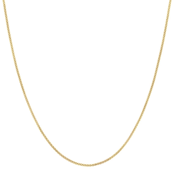 14k Yellow Gold Adjustable Popcorn Chain (20 in.)