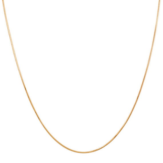 14k Yellow Gold Adjustable Snake Chain (22 in)