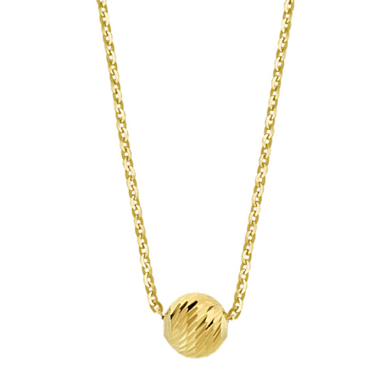 14k Yellow Gold Ball Necklace (18 in)