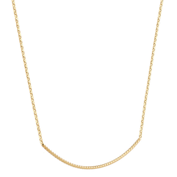 14k Yellow Gold Bar Necklace (18 in)