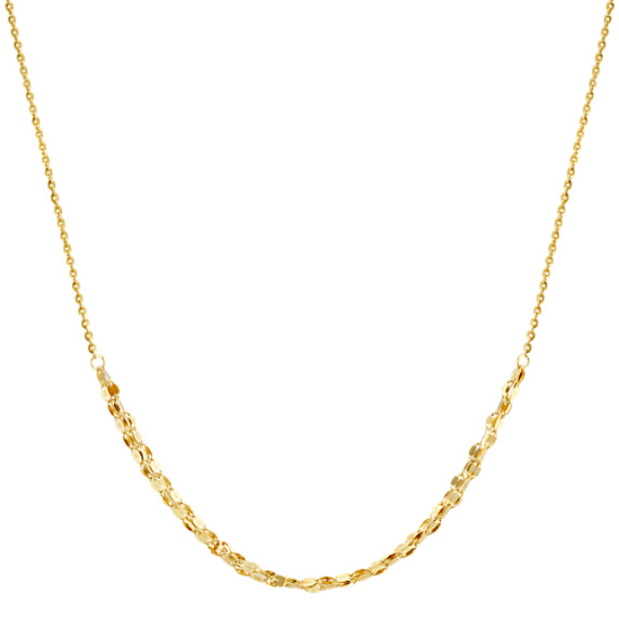 14k Yellow Gold Choker Necklace (16 in)