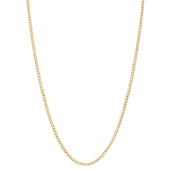 24 inch Mens 14k Yellow Gold Curb Chain