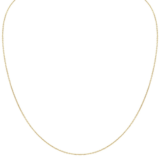 14k Yellow Gold Diamond Cut Cable Chain (18 in)