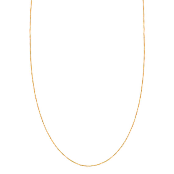 14k Yellow Gold Diamond Cut Chain (18 in) image