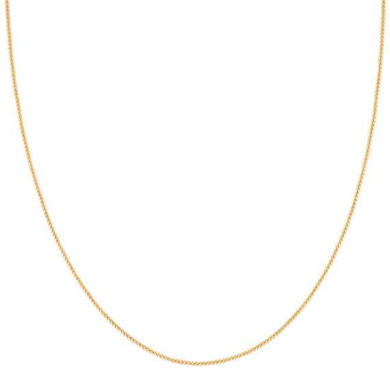 14k Yellow Gold Diamond Cut Chain (18 in)