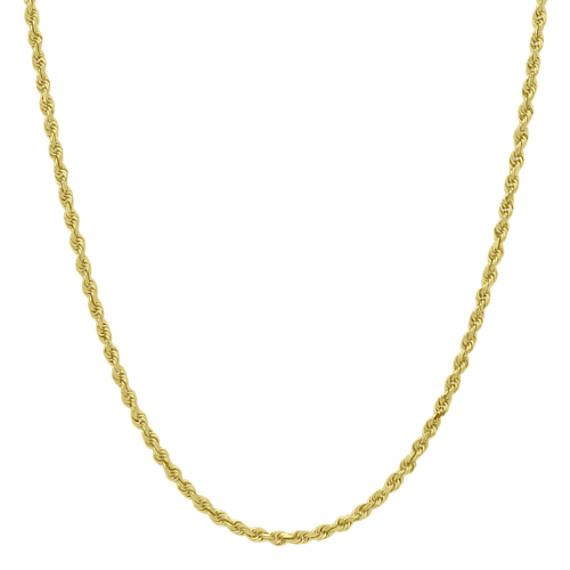 14k Yellow Gold Diamond Cut Rope Chain (30 in.)