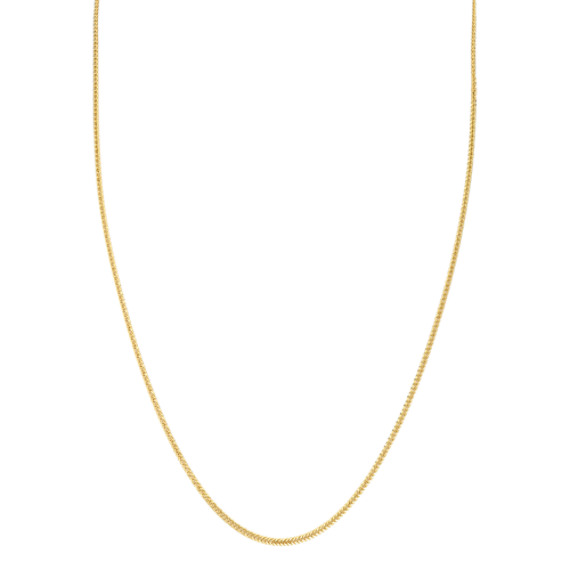14k Yellow Gold Diamond Cut Wheat Chain (18 in)