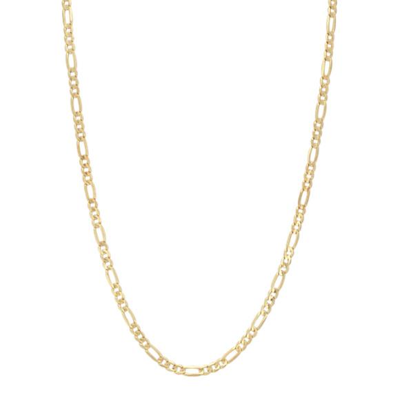 14k Yellow Gold Figaro Chain (24 in)