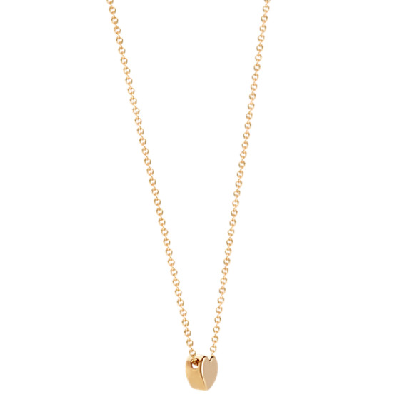 14k Yellow Gold Heart Pendant (18 in.) image