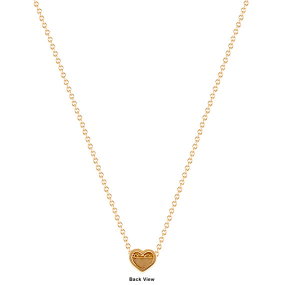 14k yellow gold heart pendant 18 in shane co tap to zoom aloadofball Gallery