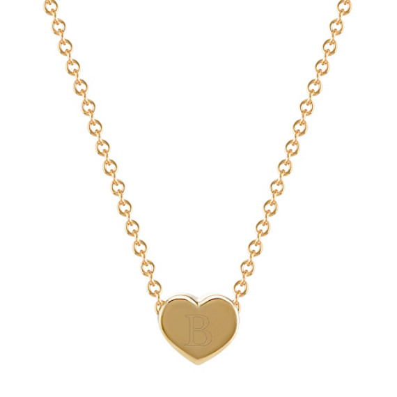 14k Yellow Gold Heart Pendant (18 in.)