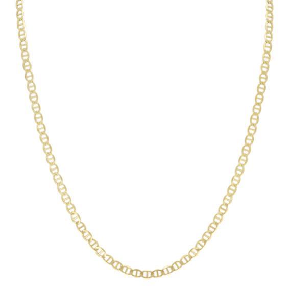 24 inch Mens 14k Yellow Gold Mariner Chain