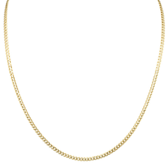 24 inch Mens 14k Yellow Gold Mens Curb Chain