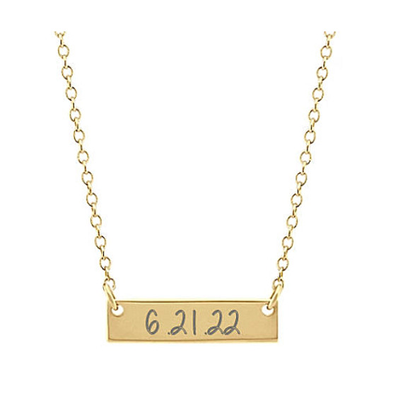 Mini Bar Necklace in 14k Yellow Gold (18 in)