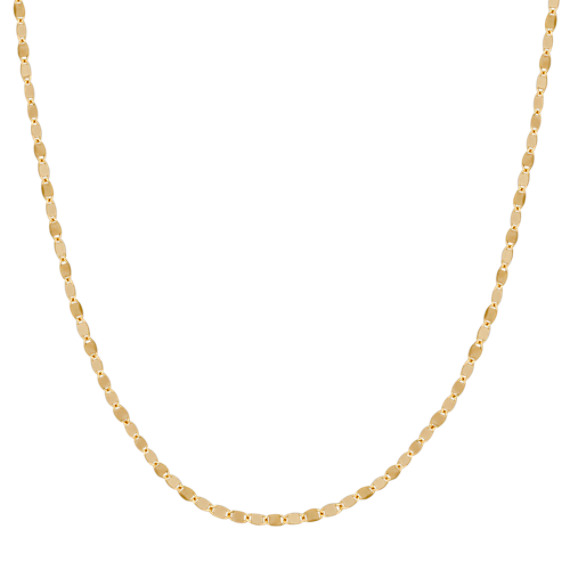 14k Yellow Gold Oval Link Necklace (18 in)