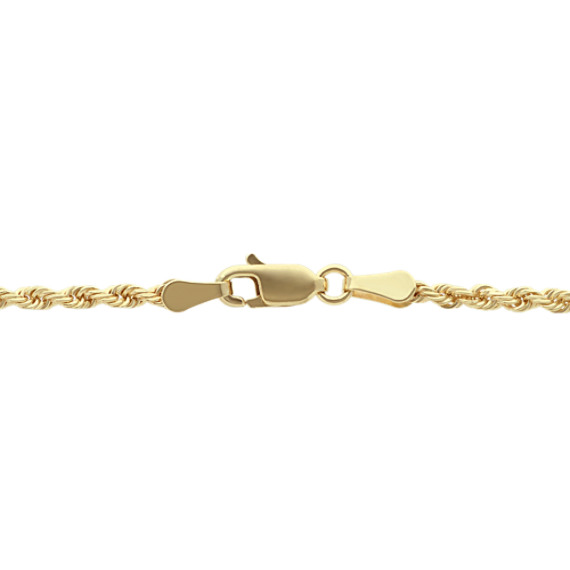 14k Yellow Gold Rope Chain (24 in) image