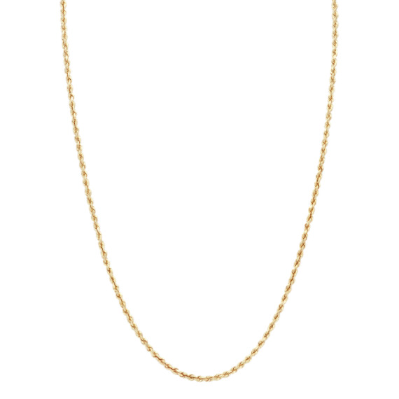 24 inch Mens 14k Yellow Gold Rope Chain