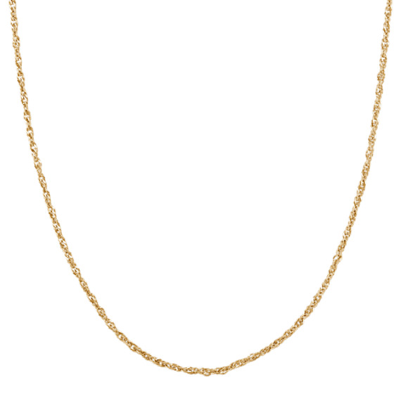 14k Yellow Gold Singapore Chain (18 in)