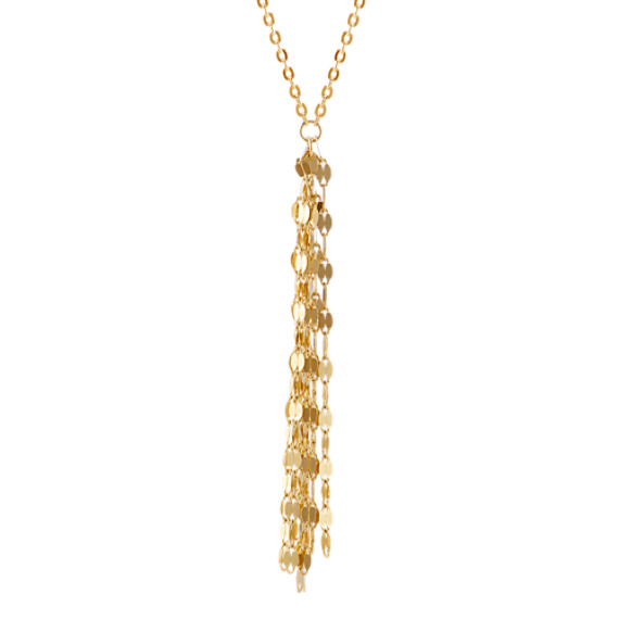 14k Yellow Gold Tassel Necklace (30 in)