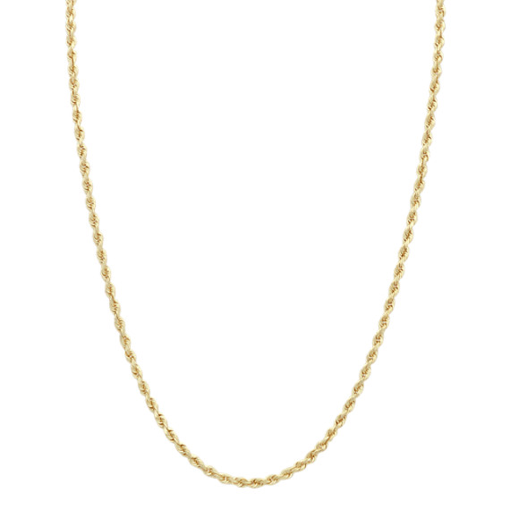 14k Yellow Gold Twisted Rope Chain (24 in)