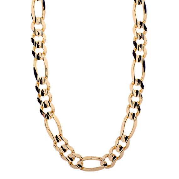 24 Inch Mens Figaro Chain in 14k Yellow Gold