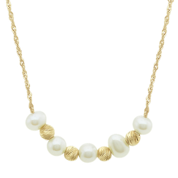 3.5-4mm Cultured Freshwater Pearl Necklace (18 in)
