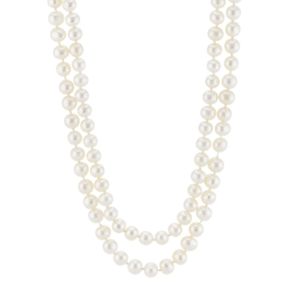 4.5mm Cultured Freshwater Pearl Double Strand Necklace (36 in)